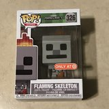 Funko Pop Minecraft Flaming Skeleton Collectible Nice! in Travis AFB, California