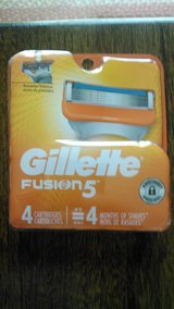 Gillette Fusion 5 razor refill 4 pack in Cherry Point, North Carolina