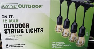Luminar 12 bulb 24' outdoor string lights in Kingwood, Texas