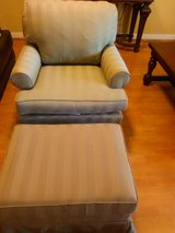 Olive Green Color Chair and Ottoman $45 in Lackland AFB, Texas