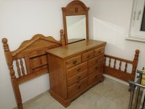 Bedroom set, twin bed, dresser, mirror in Stuttgart, GE