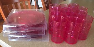 Pink Acrylic Plates & Glasses in Joliet, Illinois