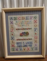 "Framed ""Home is Where They Love You"" Cross Stitch in Kingwood, Texas"