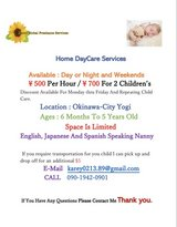 $5 per hour HOME DAYCARE SERVICE in Okinawa, Japan