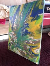 Hand painted canvas art work in Naperville, Illinois