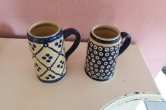 2 steins polish pottery in Grafenwoehr, GE