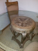 Round Glass Table 4 Chairs in Oswego, Illinois