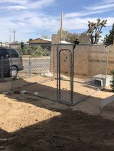 dog gate in Yucca Valley, California