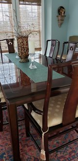 Dining Room table, 8 chairs, and 2 matching chests in Camp Lejeune, North Carolina