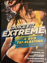 NEW Dance Fit Extreme Fat Blasting Workout Collection DVD 4-Disc Set in Oswego, Illinois