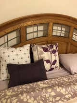 BEAUTIFUL SOLID OAK BEDROOM SET WITH BRAND NEW MATTRESS SET in Naperville, Illinois