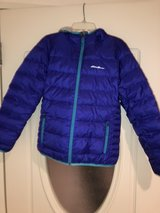 Girls Purple Eddie Bauer hooded coat with down feathers in Okinawa, Japan
