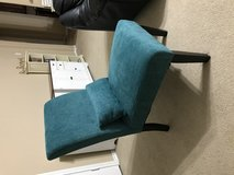 Blue teal accent chair in Baytown, Texas