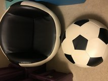 Kid size Soccer Chair with ottoman in Baytown, Texas