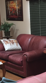 Loveseat leather couch in Joliet, Illinois