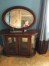 Curio cabinet 13x41 lights in side with mirror in Houston, Texas