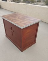 Handmade vintage solid wood table in 29 Palms, California