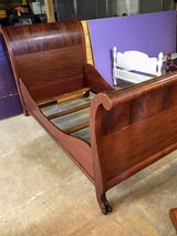 antique flame mahogany twin bed in Cherry Point, North Carolina