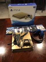 PS4 Gold Limited Edition 1TB, With headset, and 5 game in Fort Leonard Wood, Missouri
