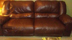 Leather recliner Couch in Aurora, Illinois