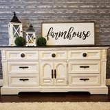Gorgeous White Distressed Buffet/dresser in Kingwood, Texas