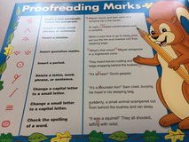 Proofreading marks teaching poster in Ramstein, Germany