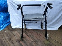 Rollator Walkabout - Lumex RJ4400K Four-Wheel Imperial with Padded Back Bar, Black in Naperville, Illinois