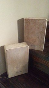 2 silver realistic speakers minimus 22 in Houston, Texas