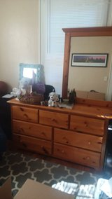 wood dresser with mirror in Beaufort, South Carolina