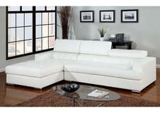 INVENTORY SALE! CONTEMPORARY UPSCALE SOFA CHAISE LEATHER WHITE SECTIONAL in Camp Pendleton, California