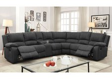 NEW! SALE! SKYMON UPSCALE SUEDE SOFA SECTIONAL WITH RECLINERS, TABLES, AND CONSOLE:) in Camp Pendleton, California