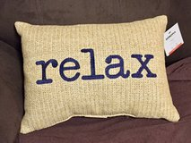 Decorative Pillow that says Relax in Westmont, Illinois
