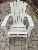 Off White Plastic Adirondack Chair in Aurora, Illinois