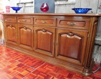 Solid Wood Walnut Sideboard with 2 v doors in Ramstein, Germany