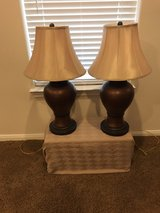 Copper/brown lamps with shades in Baytown, Texas