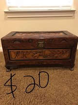 Small carved chest in Baytown, Texas