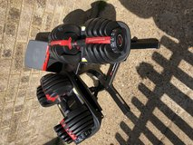 Bowflex 552 weights  and stand as new at crazy low price in Lakenheath, UK
