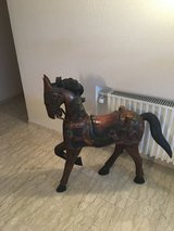Hand made solid wood horse in Wiesbaden, GE