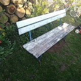 Old garden bench from the 40s in Ramstein, Germany