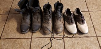 Mens steel toe boots. 11 1/2 and  10 1/2 Redwing. Golf shoes free. in Alamogordo, New Mexico