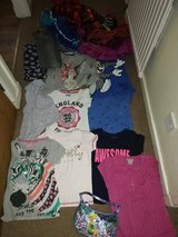 7_8 years big lot of clothes and bag in Lakenheath, UK