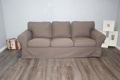 Slip cover sofa- cool brown tone in Spring, Texas