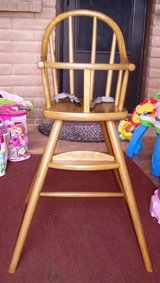 Antique Baby Doll High Chair with Foot Rest in Alamogordo, New Mexico