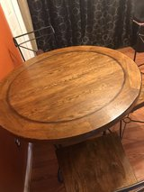 5pc Round Real Wood Table  Dining Set in Fort Knox, Kentucky