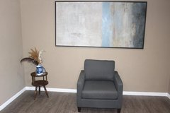 Modern Gray Accent Chair in Tomball, Texas