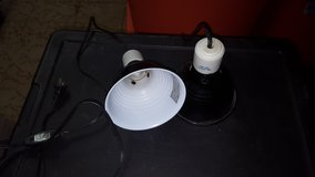 2 black dome light for reptiles 5.5inch in Plainfield, Illinois