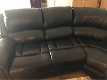 leather sectional reclining  sofa matching tables in Leesville, Louisiana