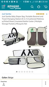Just Samba Baby Diaper Bag Portable Bassinet and Travel Changing Station (3-in-1) in Bolingbrook, Illinois