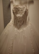 David's bridal wedding gown in Camp Pendleton, California