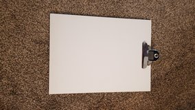 White clipboard in Joliet, Illinois